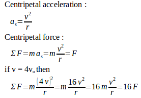 Centripetal force in uniform circular motion – problems and solutions 3
