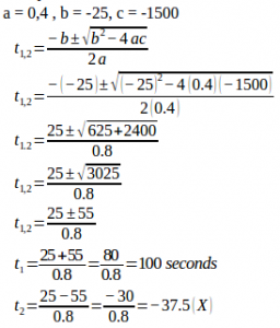 Constant acceleration – problems and solutions 1