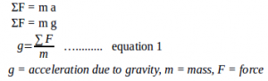 Acceleration due to gravity – problems and solutions 1