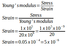Stress, strain, Young's modulus sample problems with solutions 9