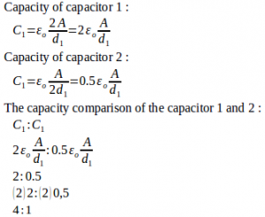 Parallel-plate capacitor – problems and solutions 6