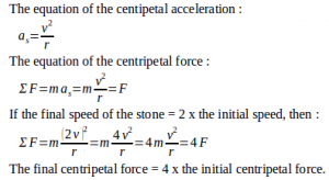Centripetal force – problems and solutions 3