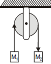 Dynamics, object connected by cord over pulley, atwood machine - problems and solutions 5