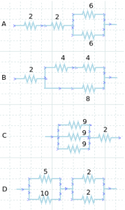 Resistors circuits – problems and solutions 1