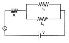 Electric circuits with resistors in parallel and internal