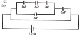 Series and parallel capacitors circuits – problems and solutions 1