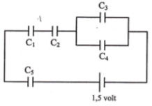 Series and parallel capacitors circuits – problems and solutions 2