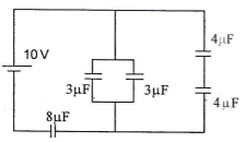 Series and parallel capacitors circuits – problems and solutions 3