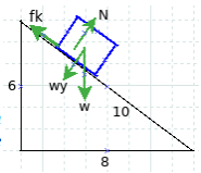 Work-energy principle, nonconservative force, motion on inclined plane with friction - problems and solutions 2