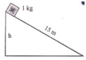 Work-energy principle, nonconservative force, motion on inclined plane with friction - problems and solutions 3