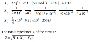 LRC Series AC Circuit – problems and solutions 5