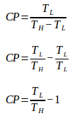 Coefficient of performance cooling machine 2