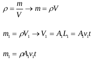Equation of continuity 7