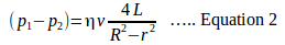 Poiseuille's equation 4