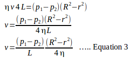 Poiseuille's equation 5