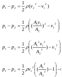 The application of Bernoulli's principles and Bernoulli's equations 11