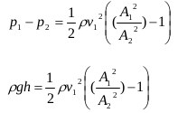 The application of Bernoulli's principles and Bernoulli's equations 12