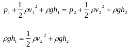 The application of Bernoulli's principles and Bernoulli's equations 2
