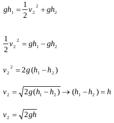 The application of Bernoulli's principles and Bernoulli's equations 4