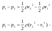 The application of Bernoulli's principles and Bernoulli's equations 9