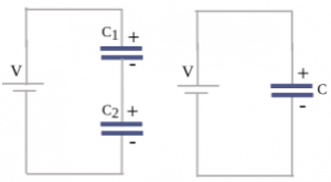 Equation of capacitor circuit 2