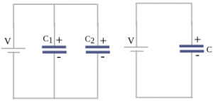 Equation of capacitor circuit 3