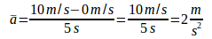 Quantities of physics in the linear motion 10