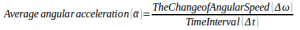 The quantities of physics in the circular motion 8